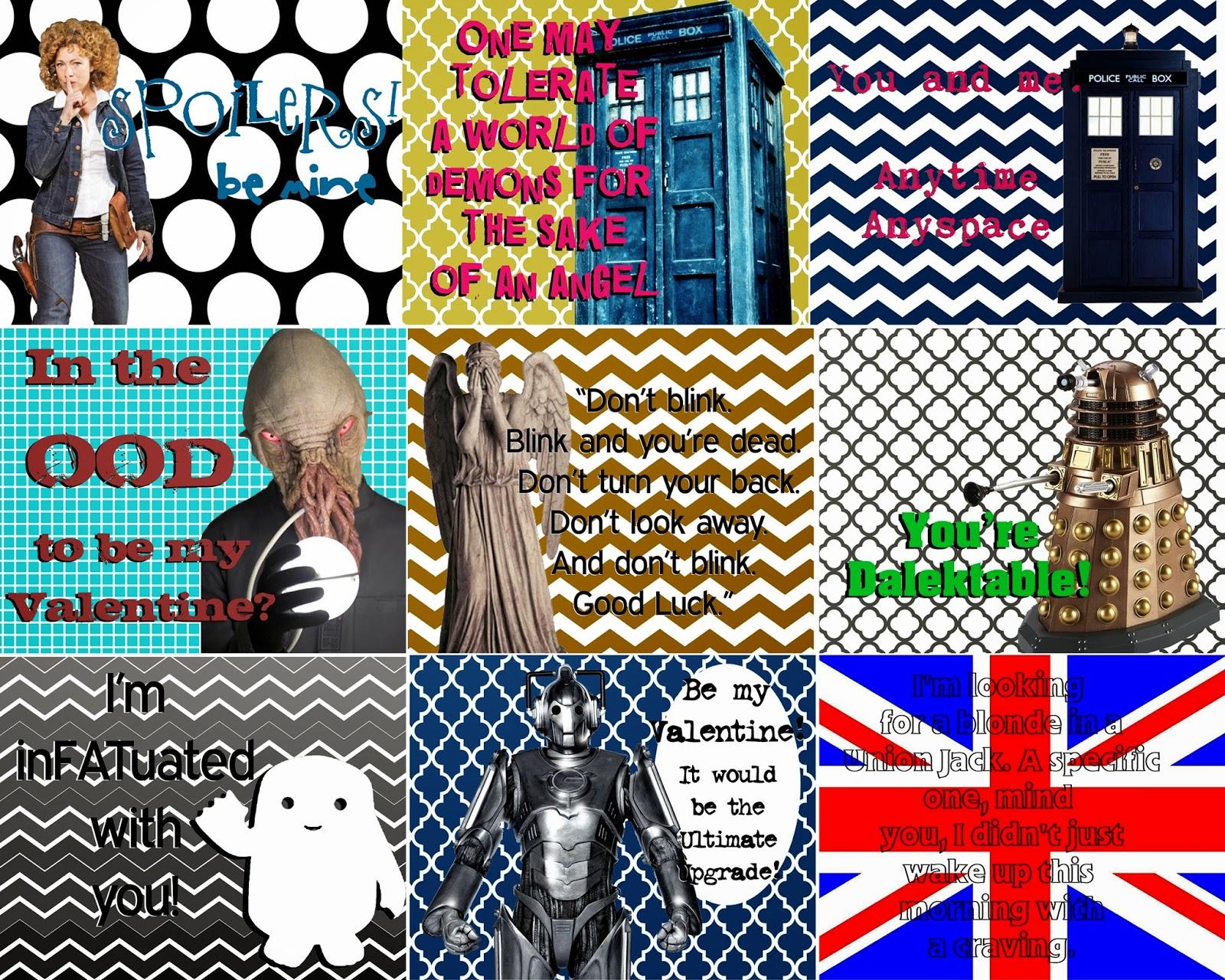 Doctor Who Valentine Printables