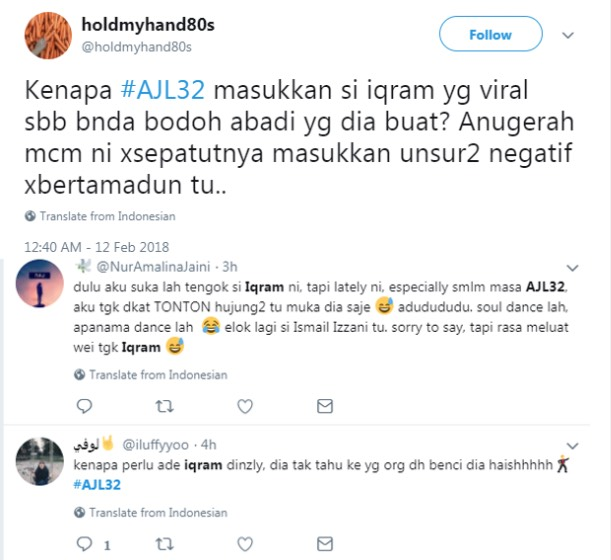 Netizen Kecam Beberapa Insiden Yang Tidak Sepatutnya Berlaku Di AJL32