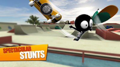 Crack dan hack Game Stickman Skate Battle untuk android