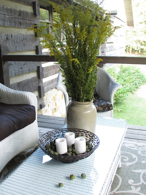 Fall Porch with Goldenrod