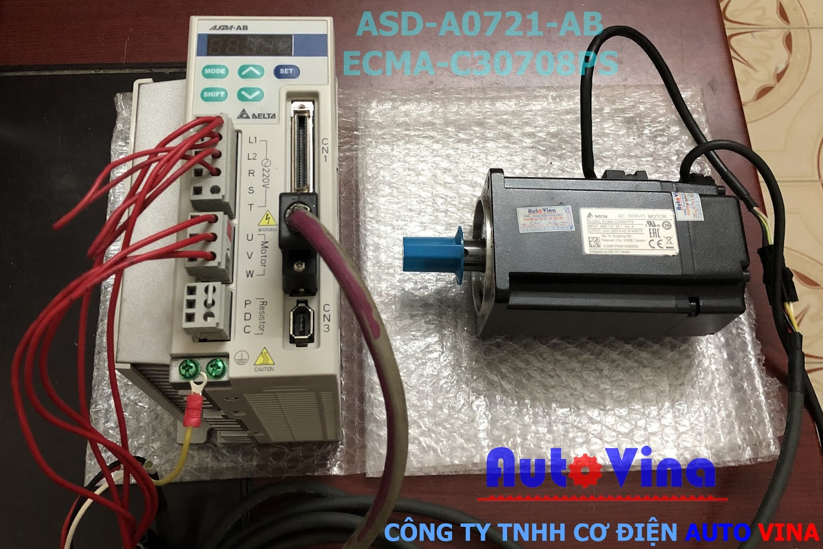 Hướng dẫn cài đặt và chạy jog bộ servo Delta ASD-A0721-AB, servo Motor ECMA-C30807PS