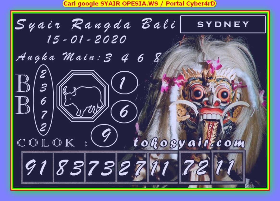 Kode syair Sydney Rabu 15 Januari 2020 140