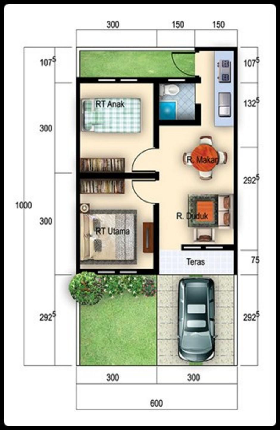 Desain Rumah Type 27/60 : desain, rumah, 27/60, Desain, Rumah, Minimalis, Terbaru