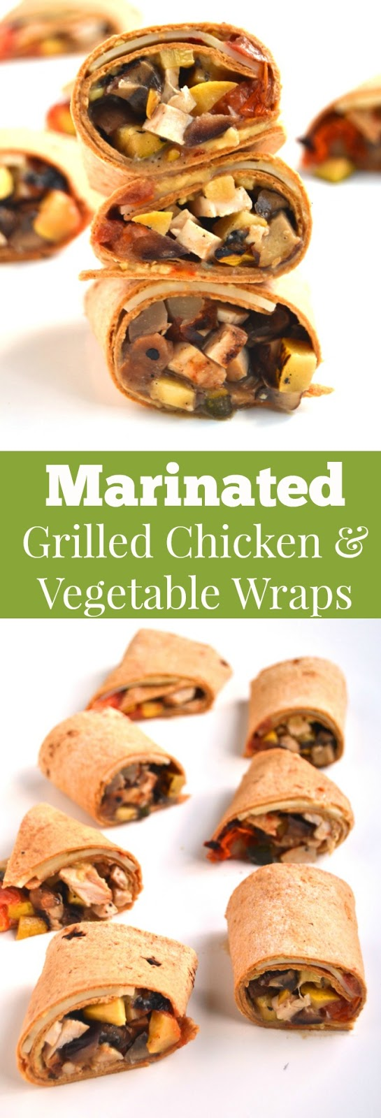 Marinated Grilled Chicken and Vegetable Wraps feature marinated balsamic chicken and vegetables, hummus and pepper jack cheese in a wrap using leftover chicken and vegetables for lunch in 5 minutes! www.nutritionistreviews.com