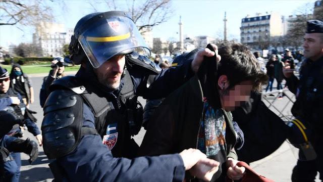 Franceses protestan contra detenciones por fuerzas de seguridad