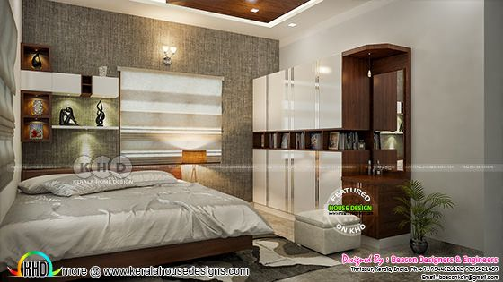 Kerala bedroom interior design