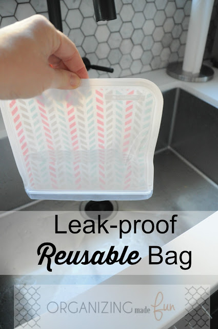 Leak-proof reusable bag