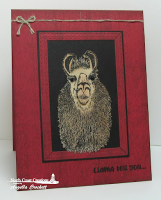 NCC Llama Tell You, ODBD Custom Double Stitched Rectangles Dies, Card Designer Angie Crockett