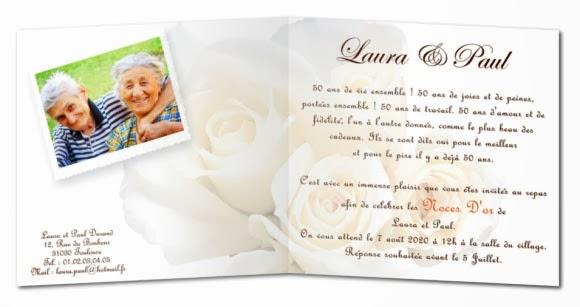 Souvent Carte d'invitation anniversaire de mariage 40 ans – Blog photo de  DK62