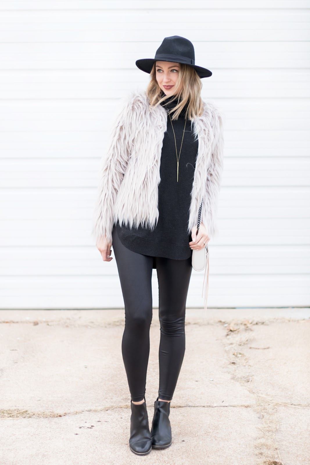 Gray faux fur jacket