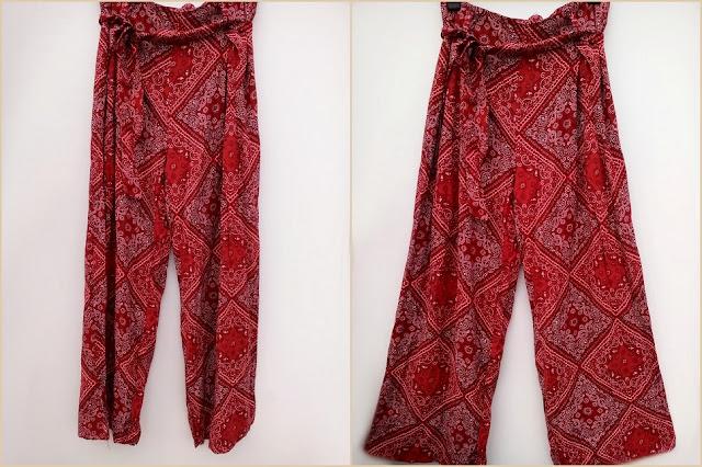 rosegal, review, recenzija, online shop, onlajn sajt, pants, hlače, dimije, uzorak, print, high waisted, visoki struk