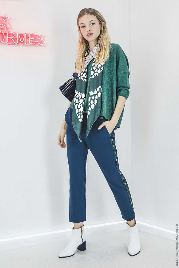 Pantalones de mujer otoño invierno 2018 moda.