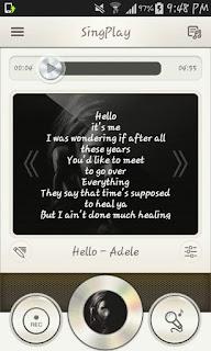 شرح تطبيف مسجل كاريوكي SingPlay: Karaoke your MP3s