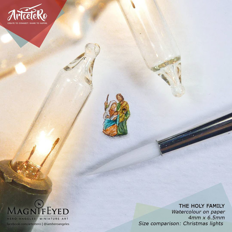 Miniature Painting from Filipino Artist Hero Angeles.