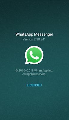Cek Versi Whatsapp yang sedang kita gunakan