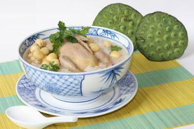 Cháo bồ câu hạt sen là món ăn tăng cân nhanh