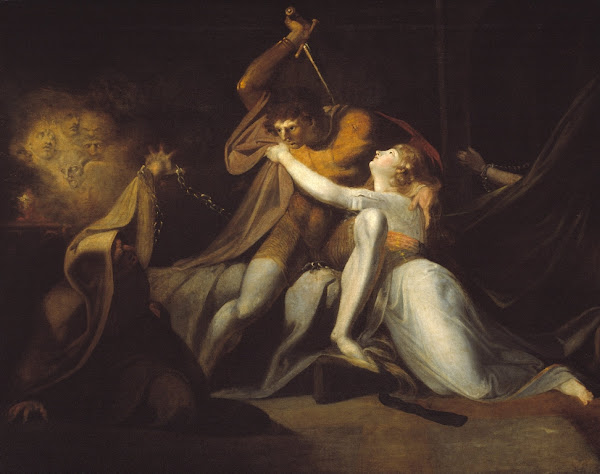 Percival Delivering Belisane from the Enchantment of Urma by Henry Fuseli, Macabre Paintings, Horror Paintings, Freak Art, Freak Paintings, Horror Picture, Terror Pictures