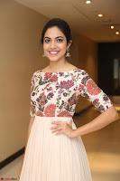 Ritu Varma smiling face Cream Anarkali dress at launch of OPPO New Selfie Camera F3 ~  Exclusive 081.JPG