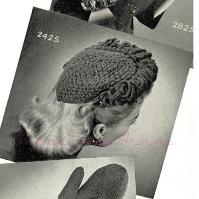 The Vintage Pattern Files: Free 1940's Crochet Pattern - Fantastic Frilled Hat