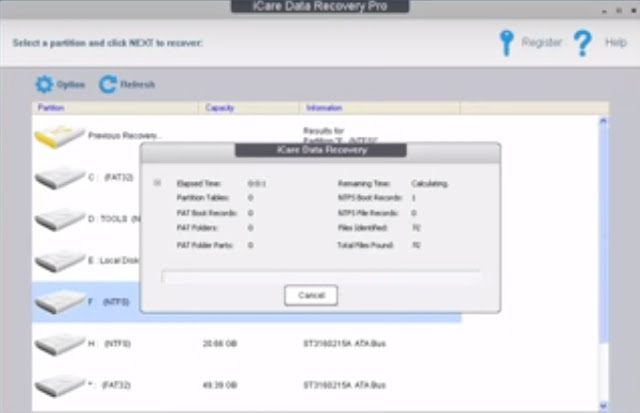 icare data recovery deep scan