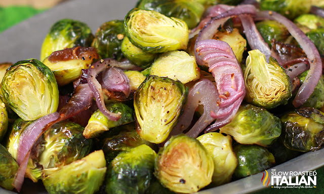 http://www.theslowroasteditalian.com/2013/11/garlic-roasted-brussels-sprouts-recipe.html