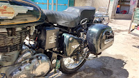 Dragonfly sidebox from Bluegarage for Royal Enfield Bullet
