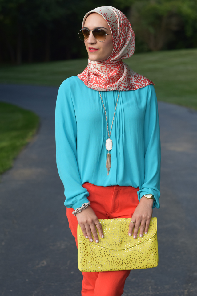 A Day In The Lalz; Summer Fashion; Modesty; Banana Republic; Prabal Gurung for Target; Haute Hijab; Color Blocking; Kendra Scott; Sloan Pant; Hijab