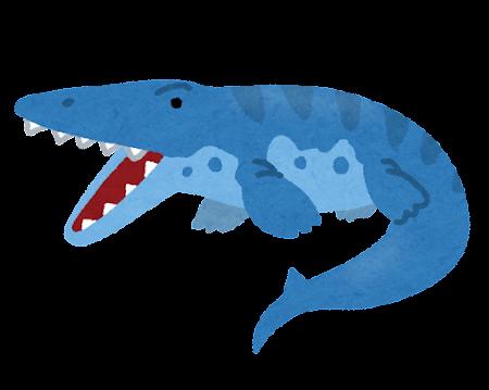 モササウルスのイラスト