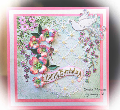 The rubber buggy flowering dogwood happy birthday card the rubber buggy on line store carries all of these supplies to make this card they offer great customer service and fast delivery on all of your orders m4hsunfo