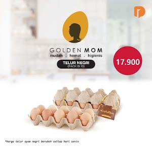 Golden Mom Telur Ayam Negri Isi 10 Butir