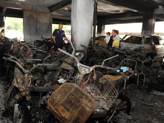 Punca 38 Motosikal Terbakar Di Tingkat Bawah Rumah Pangsa
