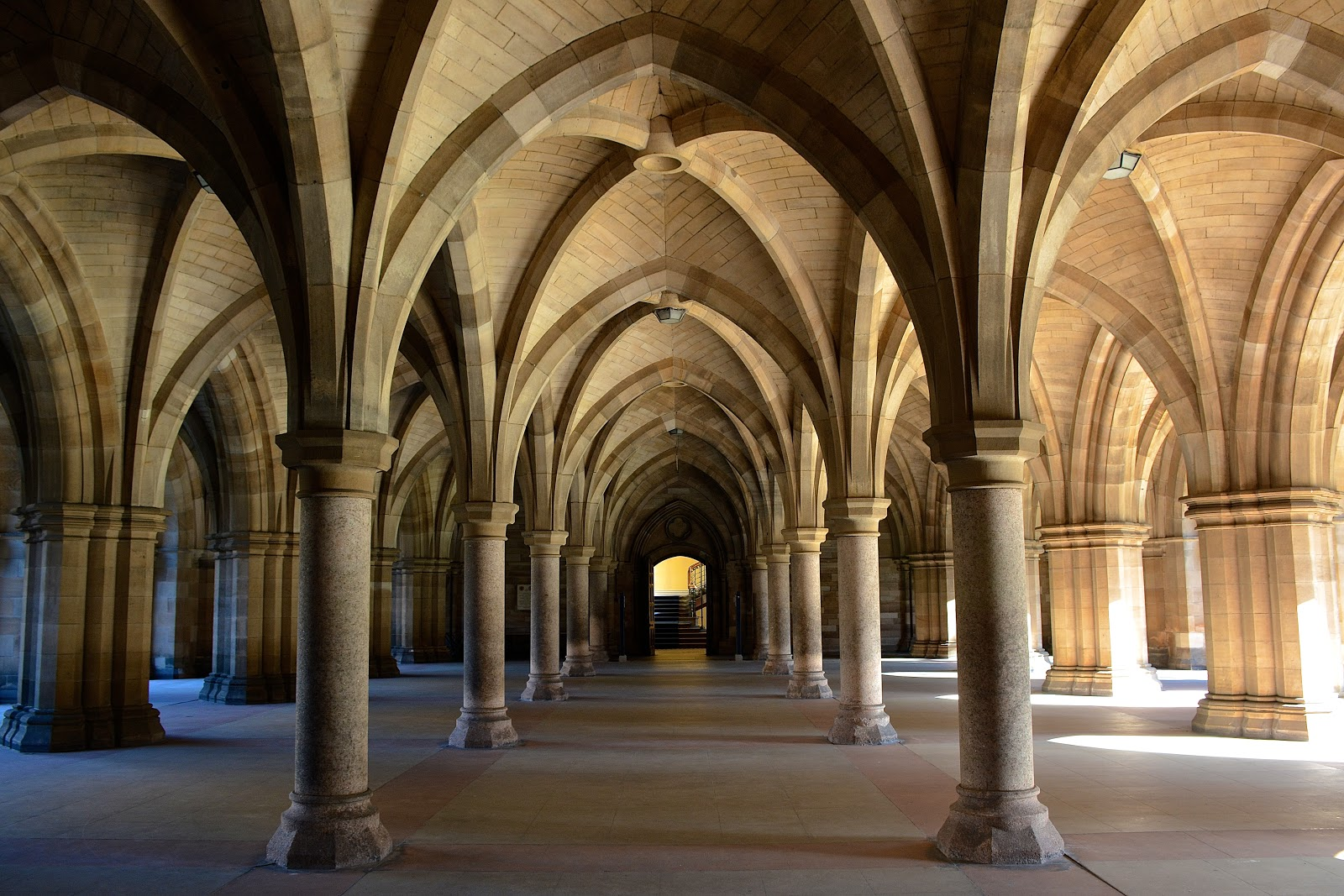 Cloisters on the University of Glasgow campus
