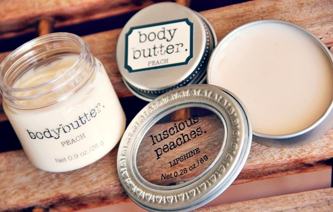 H&M peach body butter and lipshine