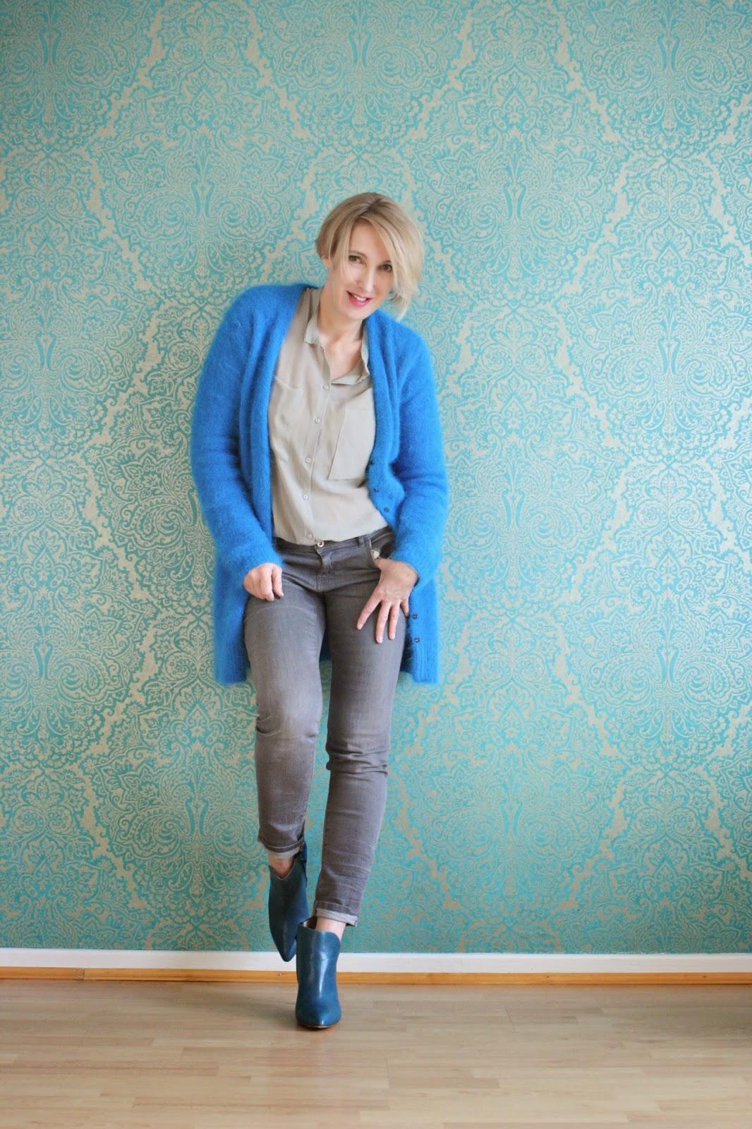 Beeindruckend Stiefeletten Kombinieren Referenz Von Cardigan + E: Dorothee Schumacher Jeans: Zara