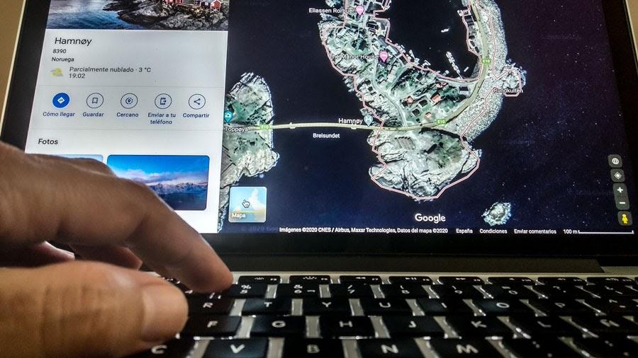 Mapa de Islas Lofoten