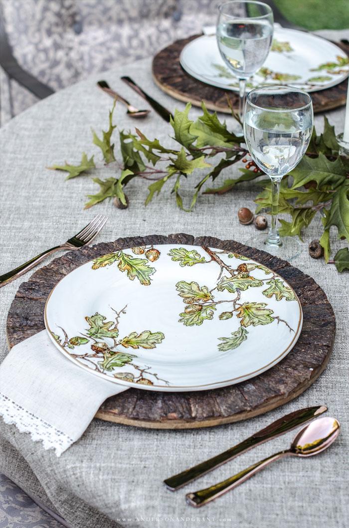 Oak Leaf Plates