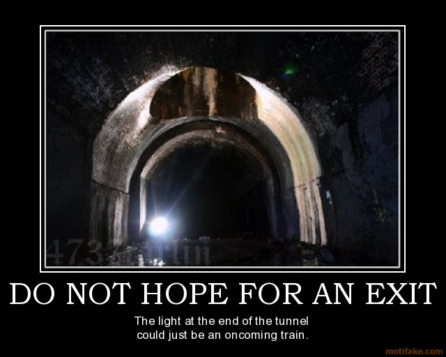 Might Be Light End Train Tunnel