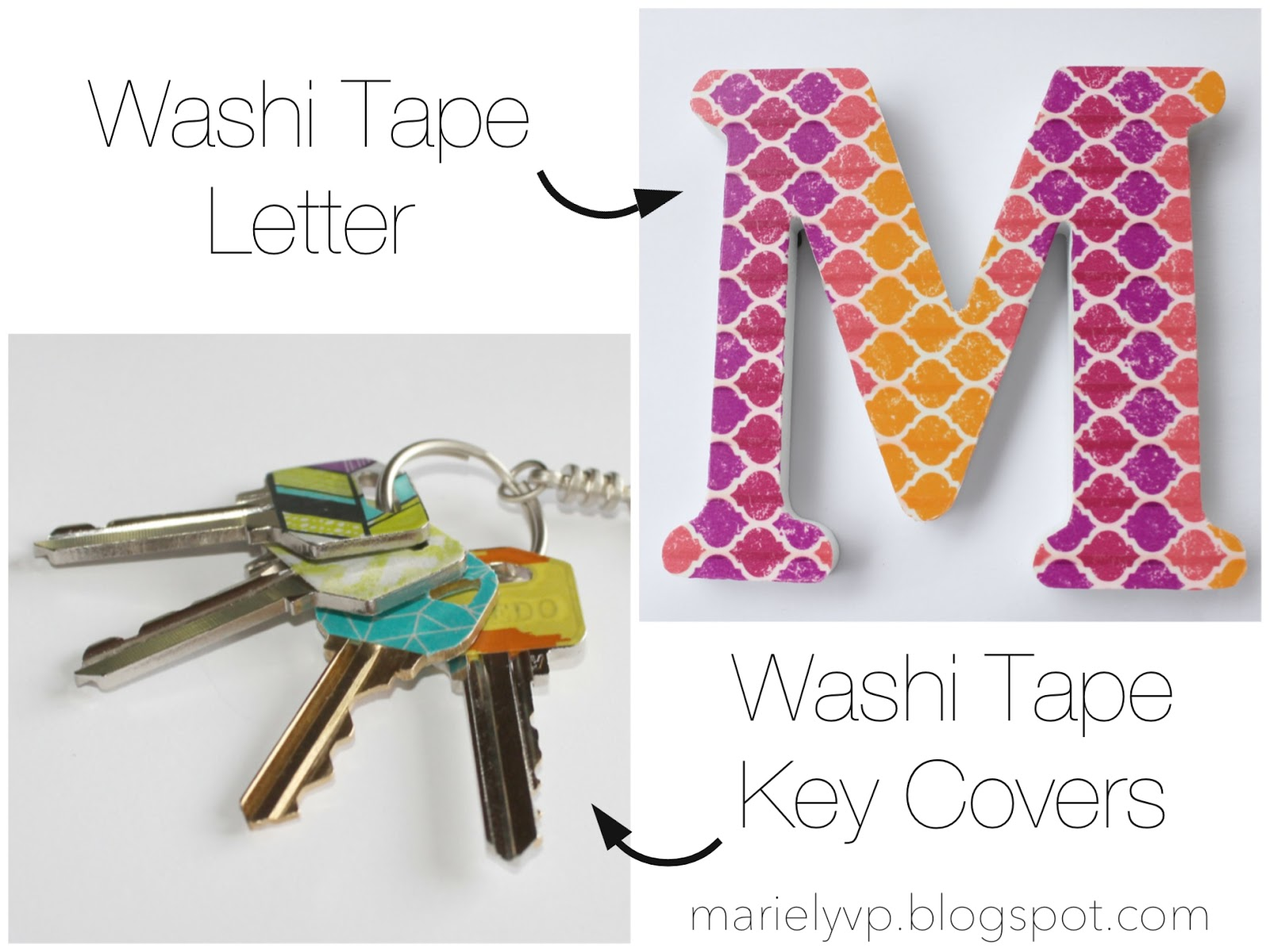 we read diy washi tape letter and key covers. Black Bedroom Furniture Sets. Home Design Ideas