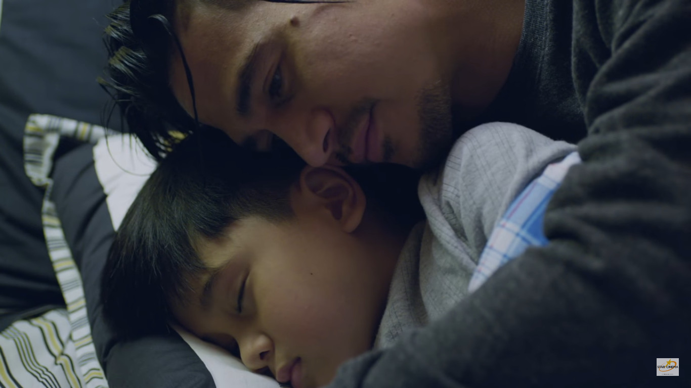 Northern Lights A Journey to Love (2017) Star Cinema movie featuring  Piolo Pascual and Raikko Mateo as father and son in alaska