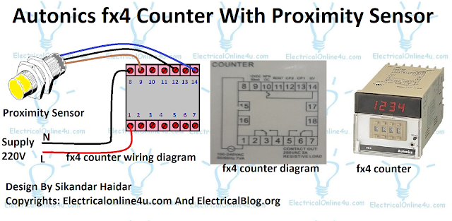 autonics fx4 counter with proximity sensor diagram