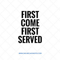 Get Source Code for First Come First Served