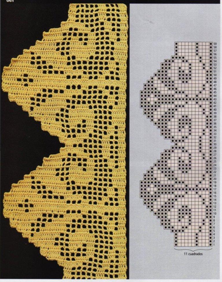 Hobby lavori femminili ricamo uncinetto maglia vari for Bordi uncinetto schemi