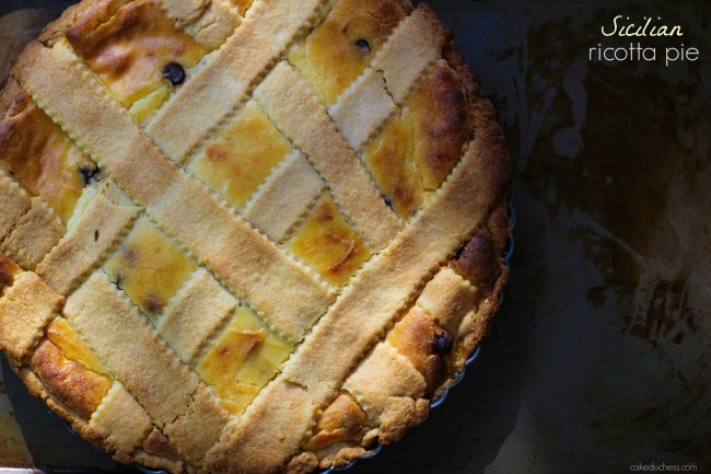 Sicilian Ricotta Pie