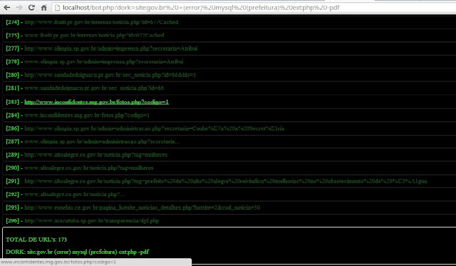 PROJETO BOTPHP usando motor de busca do GOOGLE. FAZE02
