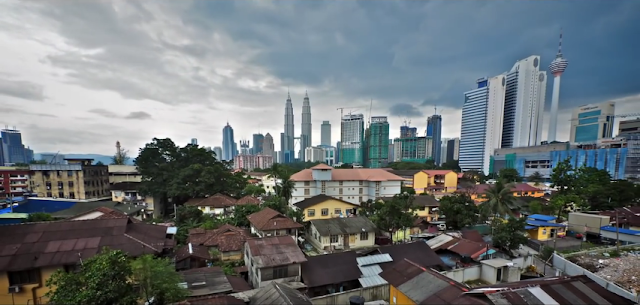 view of Kuala Lumpur from the above of Kampung Baru