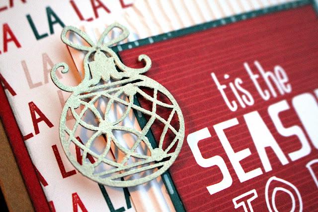 Christmas Gift Bag Alter by Ulrika Wandler using BoBunny Fa La La collection