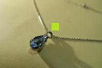 oben: Neoglory Jewellery Silber mit Swarovski Elements Halskette Armkette Ohrringe Tropfen blau