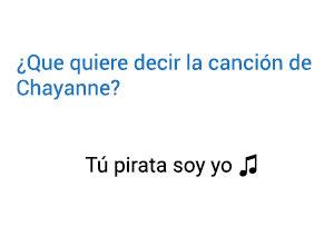 Significado de la canción Tú Pirata Soy Yo Chayanne.