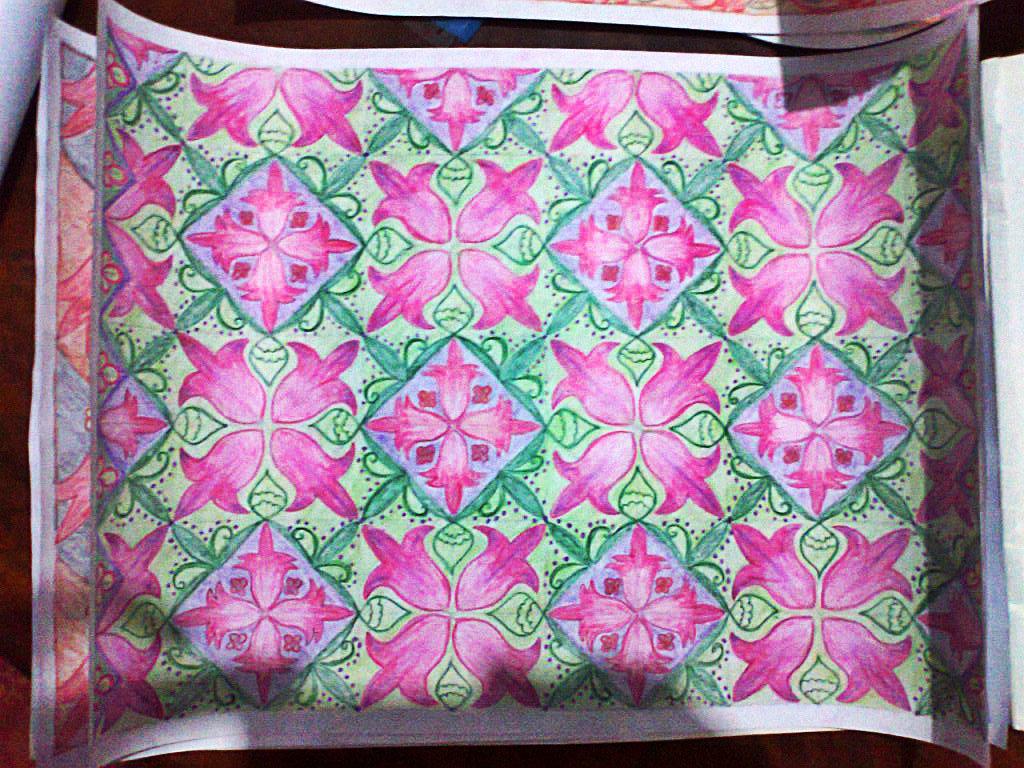 Motif Batik Sekar Rosella. (Sumber: musyafka.blogspot.com)