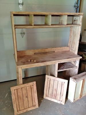 pottery barn desk stripped